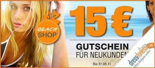 Dress for less - 15,- EUR Neukunden-Gutschein
