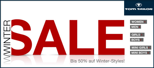 Tom Tailor - Herbst/Winter-SALE